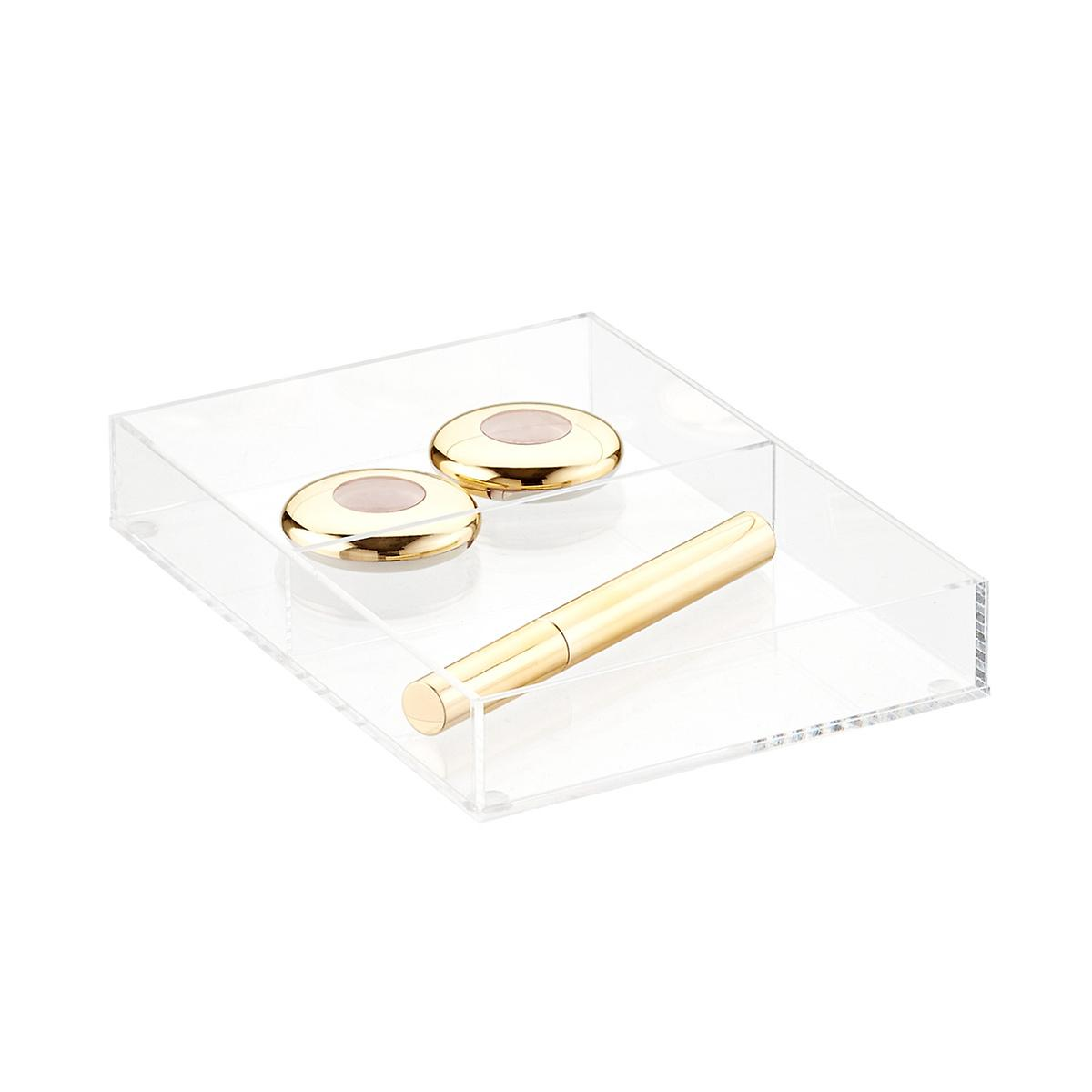 Luxe Acrylic Short 2-Section Divided Drawer Insert