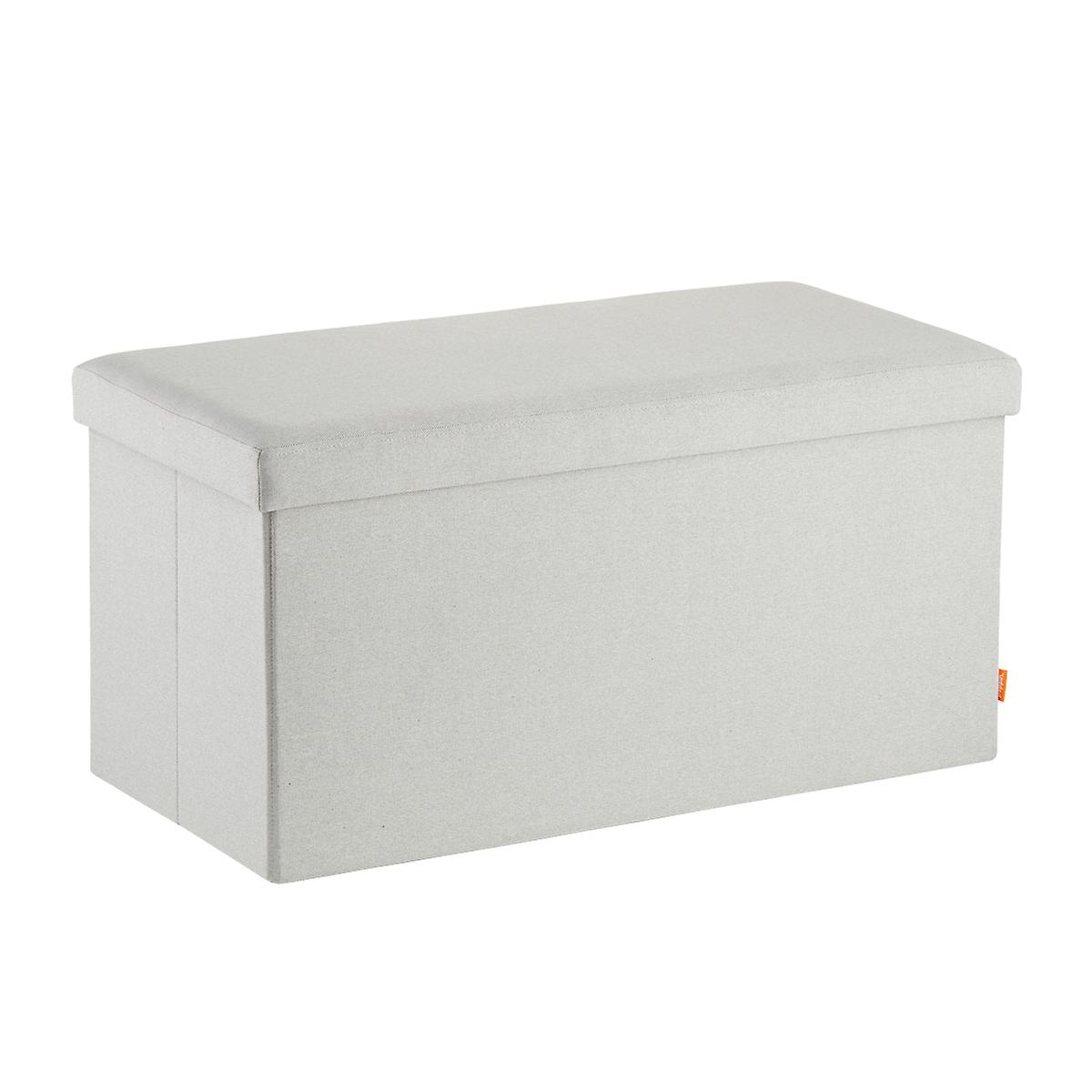 Light grey poppin box bench the container store Gray storage bench