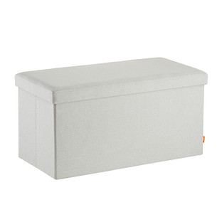 Poppin Light Grey Box Bench