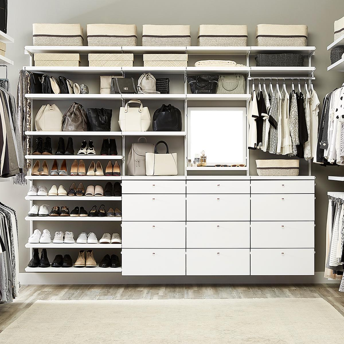 Walk In Closets Pictures custom walk-in closets - elfa walk in closet designs | the