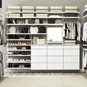 White elfa décor His & Hers Walk-In Closet