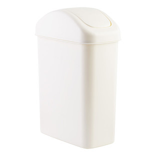 7.2 gal. White Swing-Lid Trash Can