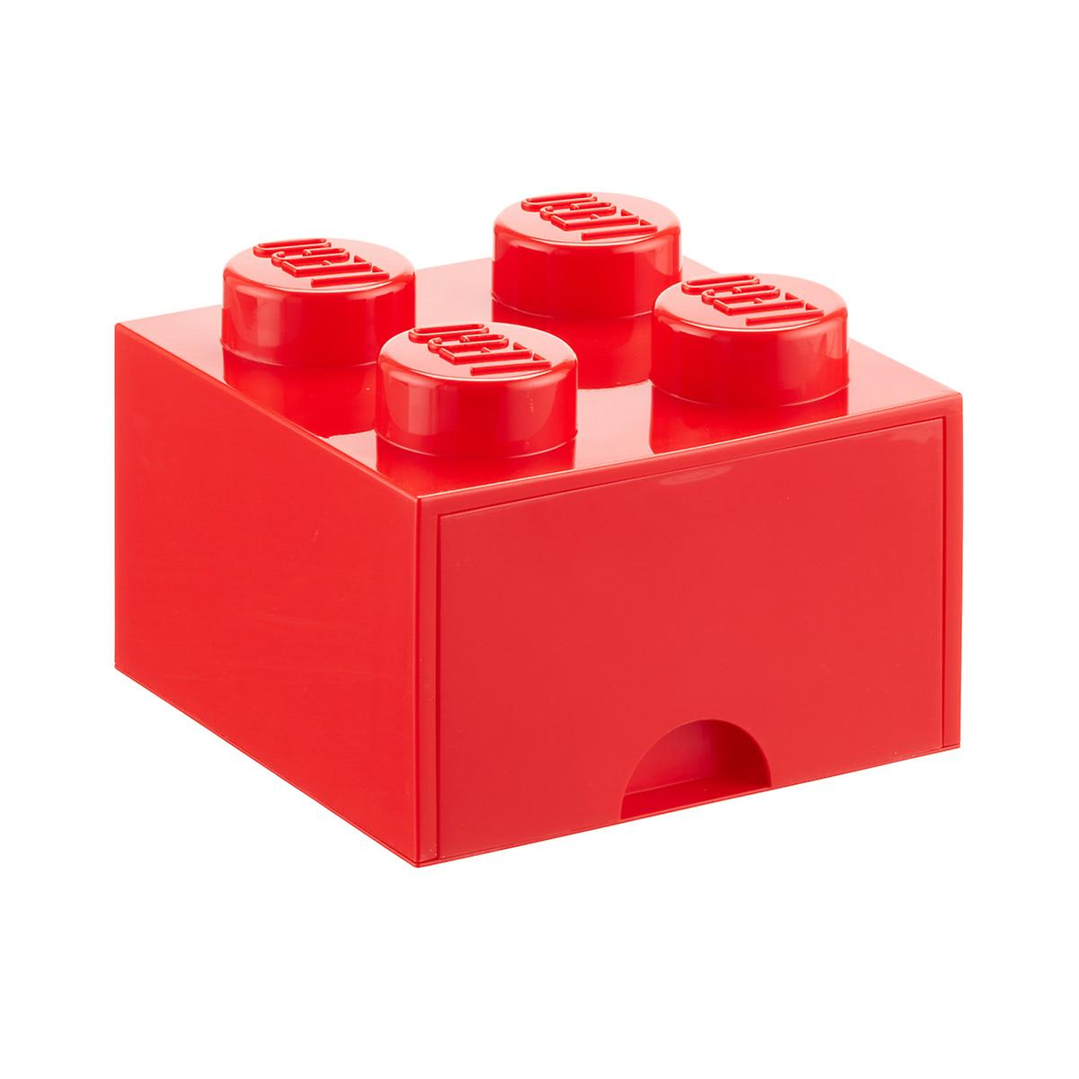 Red Large Lego Storage Drawer