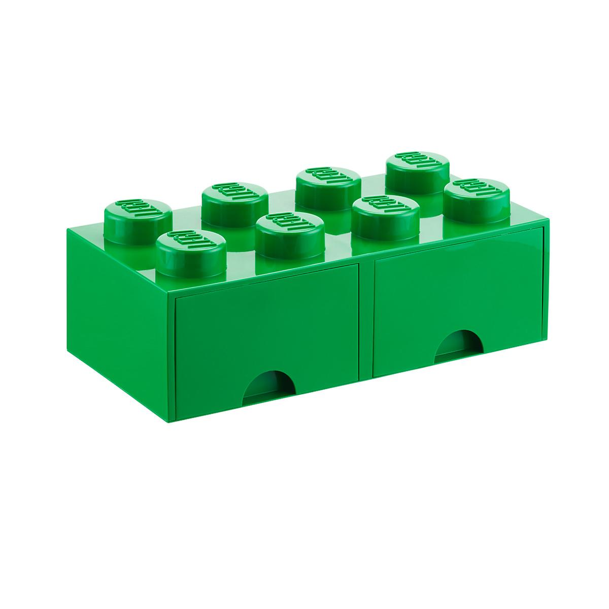 green x large lego storage drawer the container store. Black Bedroom Furniture Sets. Home Design Ideas