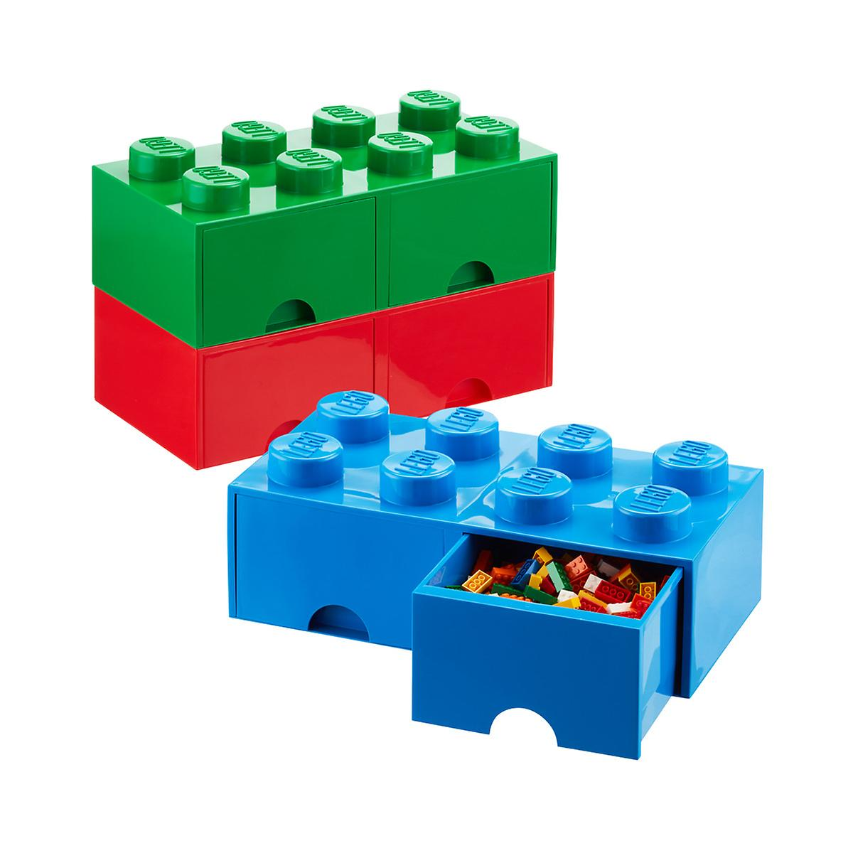 red x large lego storage drawer the container store. Black Bedroom Furniture Sets. Home Design Ideas