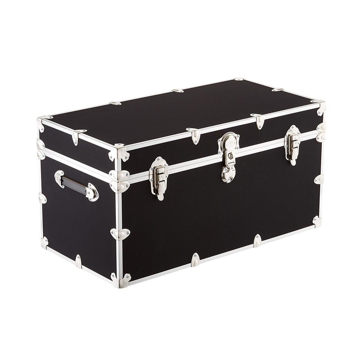 rhino deluxe locking rolling storage trunk the container store. Black Bedroom Furniture Sets. Home Design Ideas