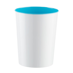 Three by Three Turquoise Vivid Metal Wastebasket