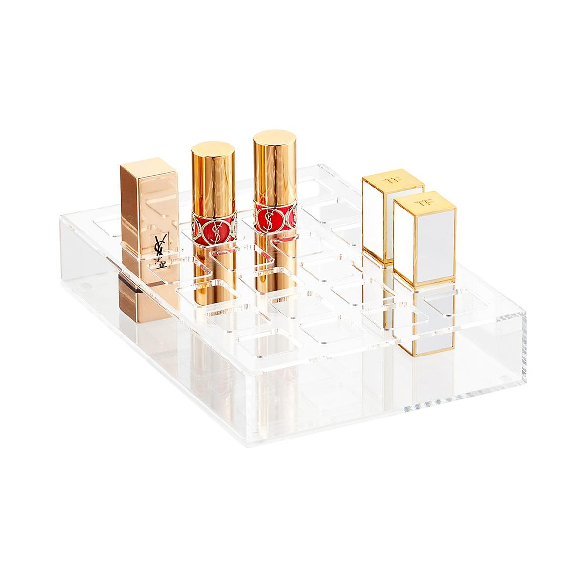 Luxe Acrylic 24-Section Lipstick Drawer Insert