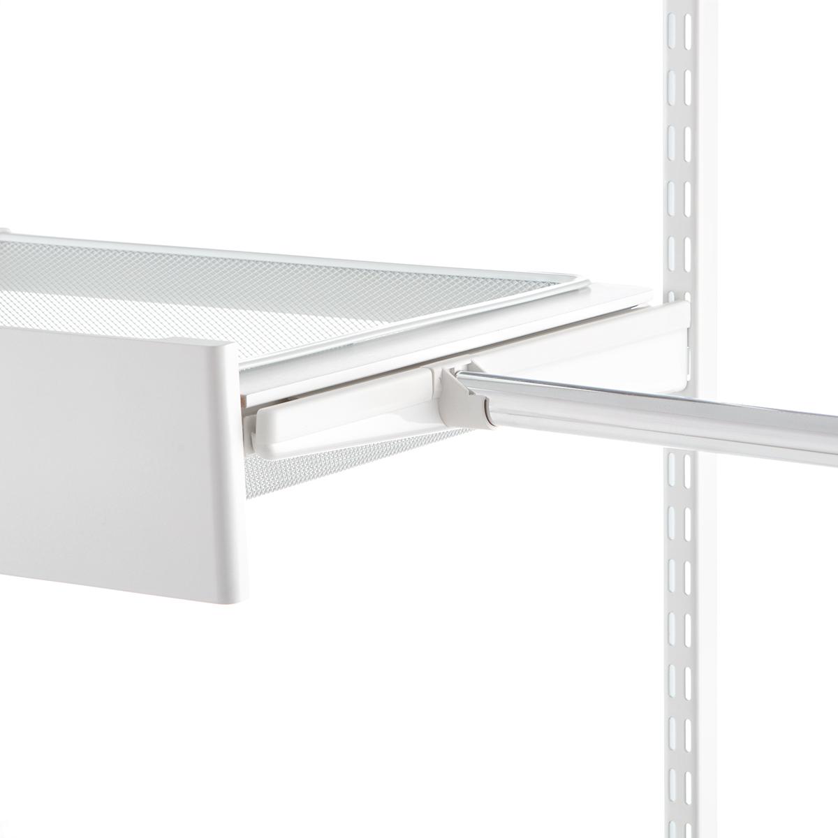 white elfa bracket cover u0026 closet rod holder