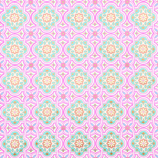 Raspberry & Turquoise Havanna Recycled Wrapping Paper
