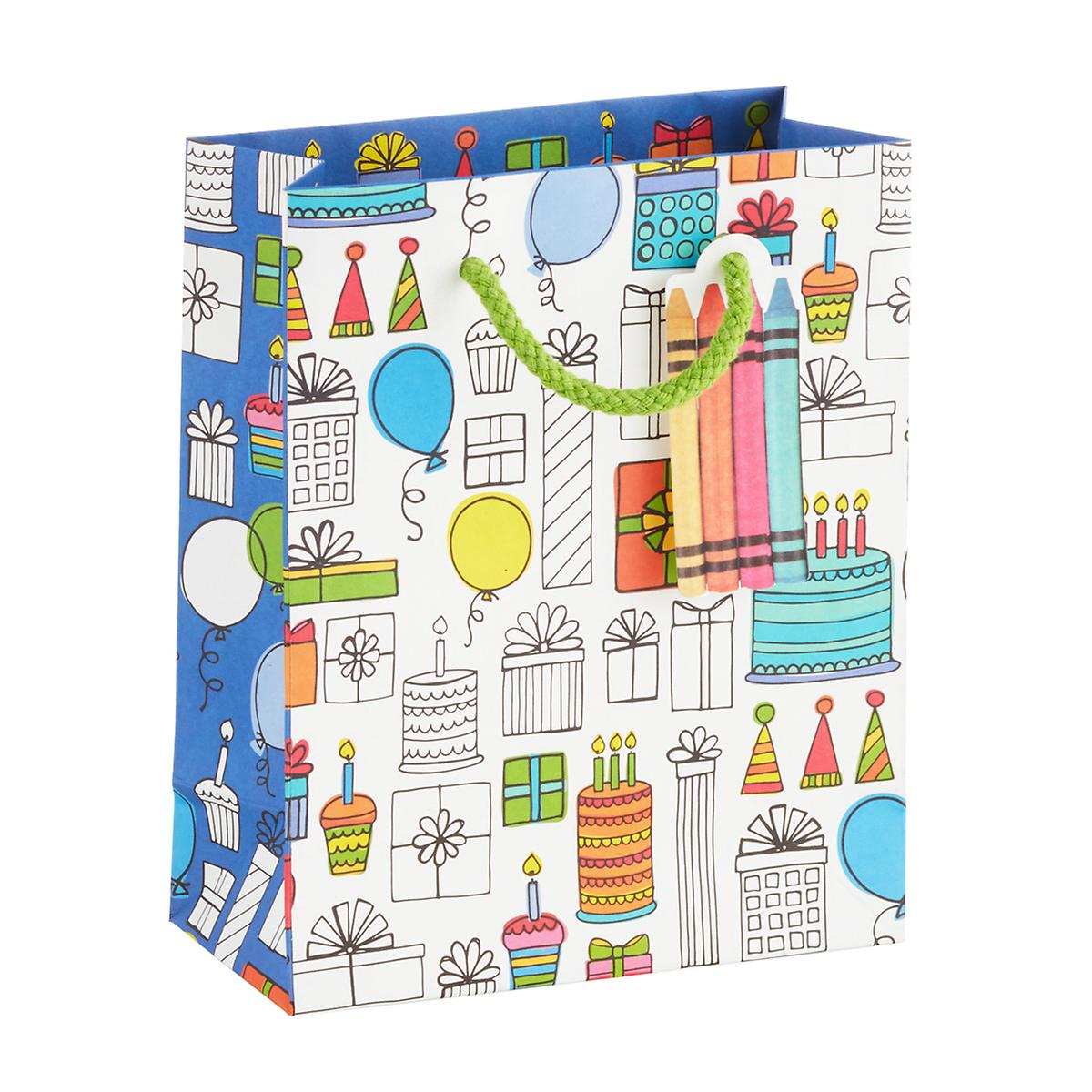 Small Cake Coloring Book Gift Bag