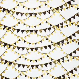 Foil Pendant Banner Wrapping Paper