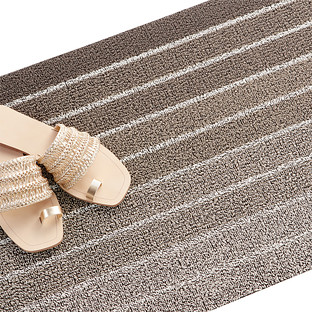 Chilewich Taupe Skinny Stripe Door Mat & Door Mats | The Container Store Pezcame.Com