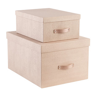 Bigso Oak Woodgrain Storage Boxes