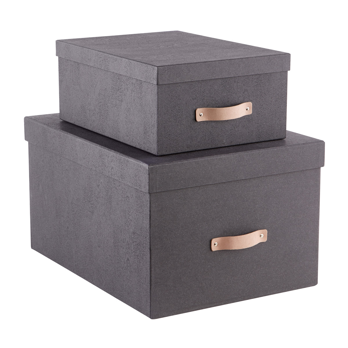 Bigso Black Woodgrain Storage Boxes