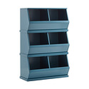 Blue Nantucket Stackable Storage Bin