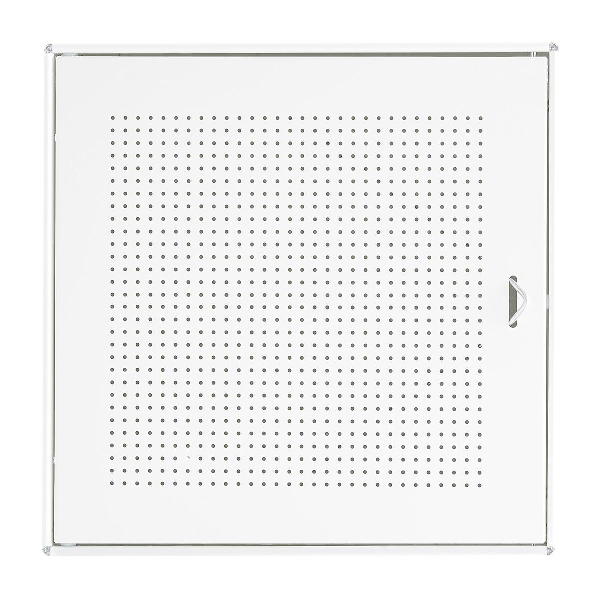 White Enameled QBO Perforated Steel Cube Door