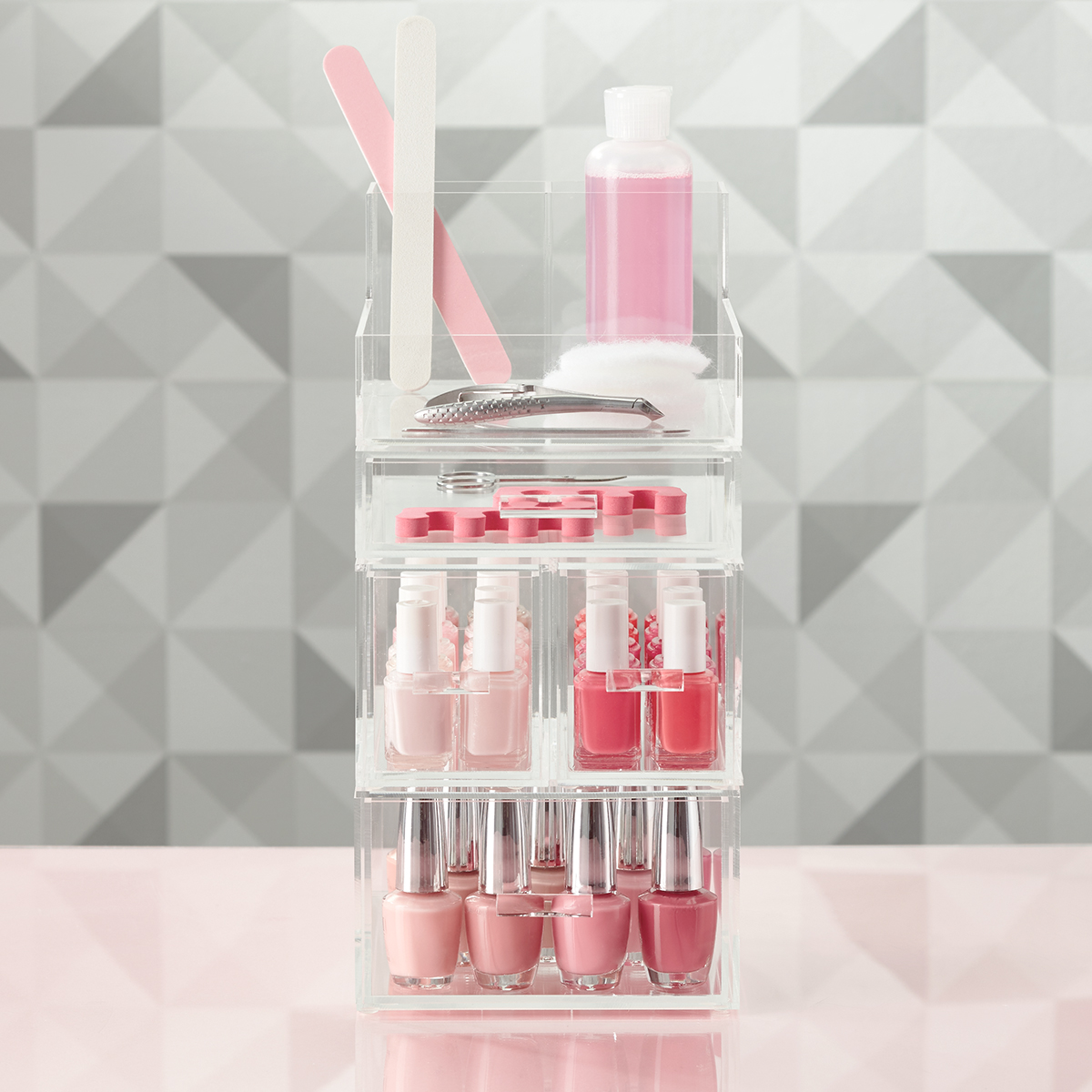 Luxe Acrylic Small Nail Polish Storage Starter Kit