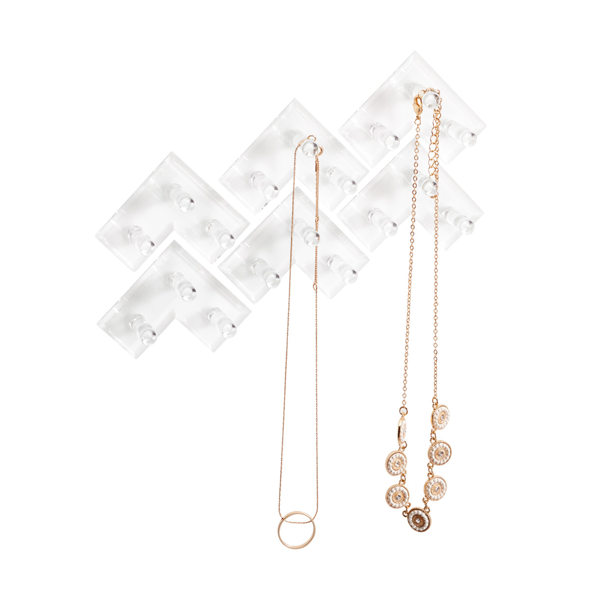 3M Command Clear Jewelry Rack The Container Store