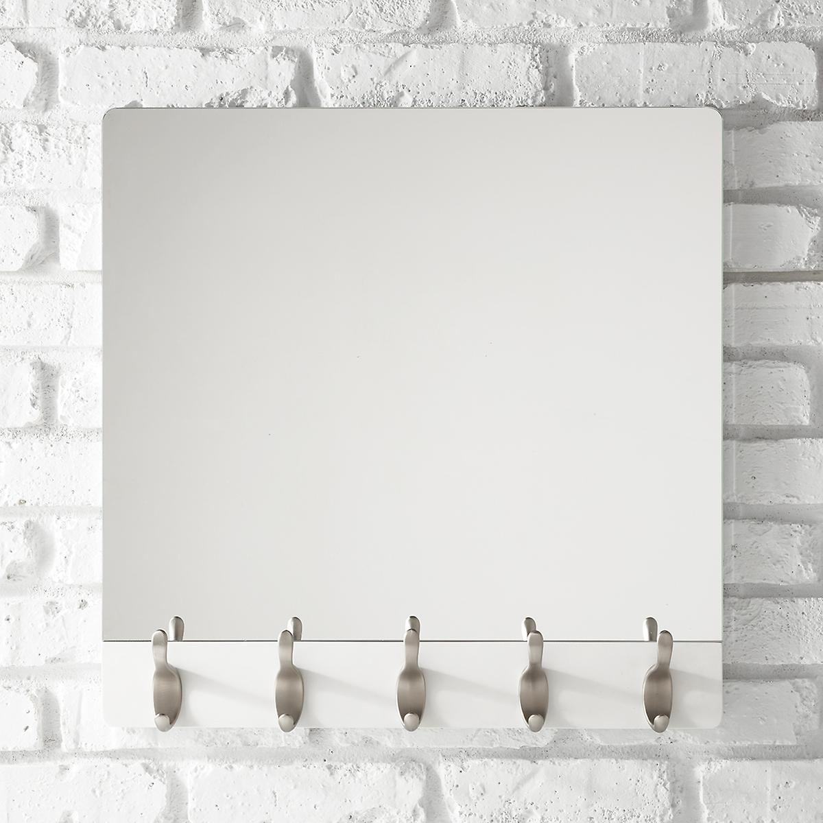 Umbra Whitewash 5-Hook Wave Mirror