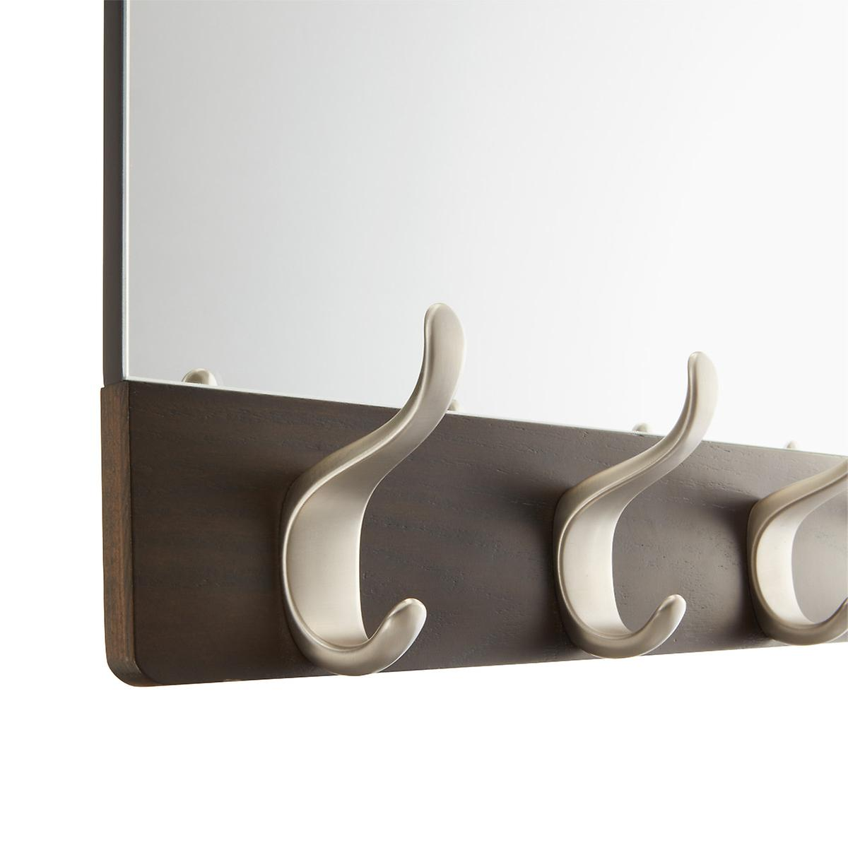 Umbra Walnut 5-Hook Wave Mirror | The Container Store