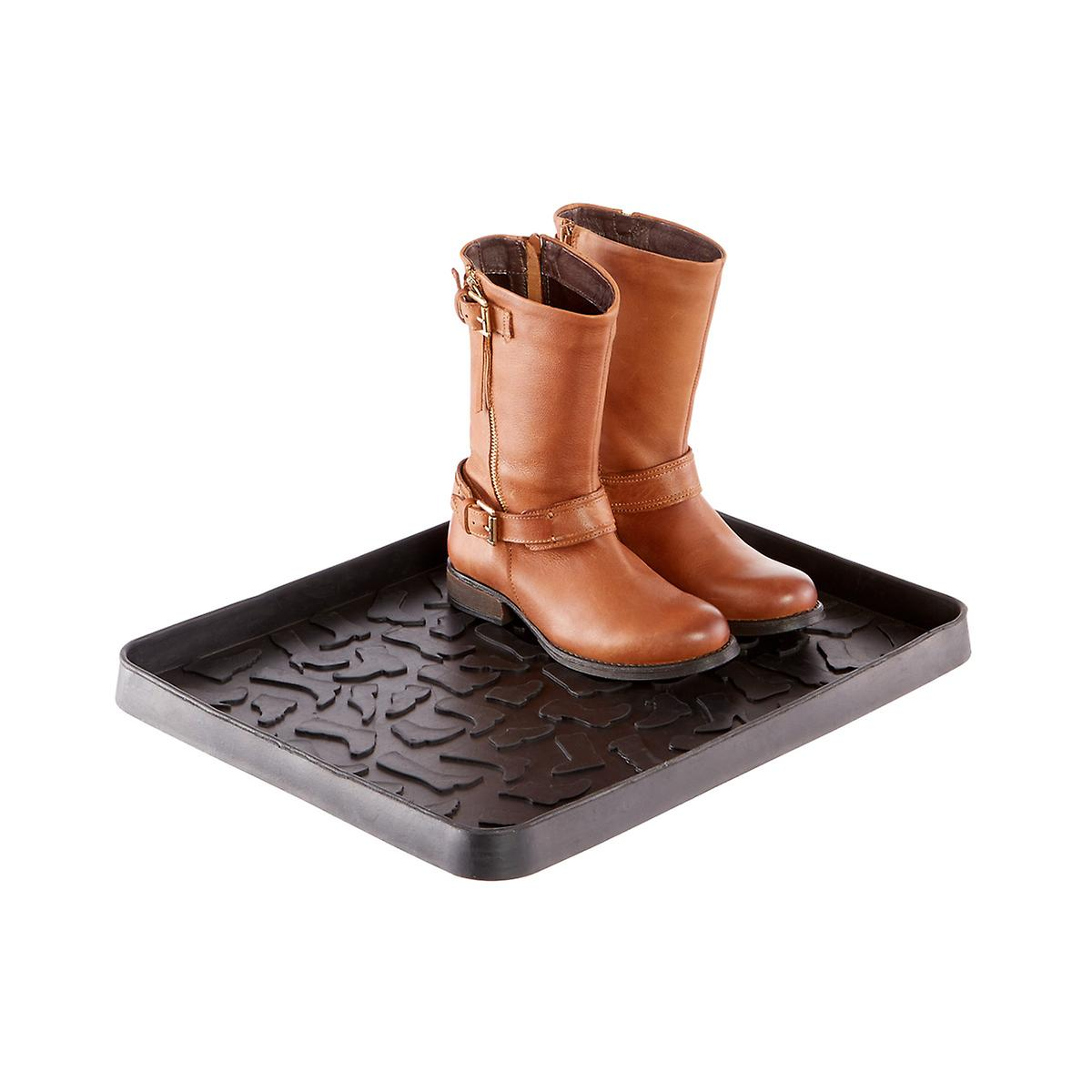 Black Small Shoe & Boot Tray