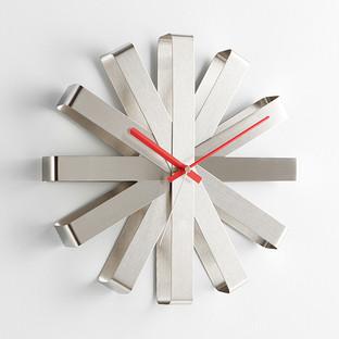 Umbra Silver Ribbon Wall Clock