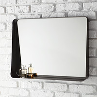 Black Horizontal Arch Wall Mirror Product Image