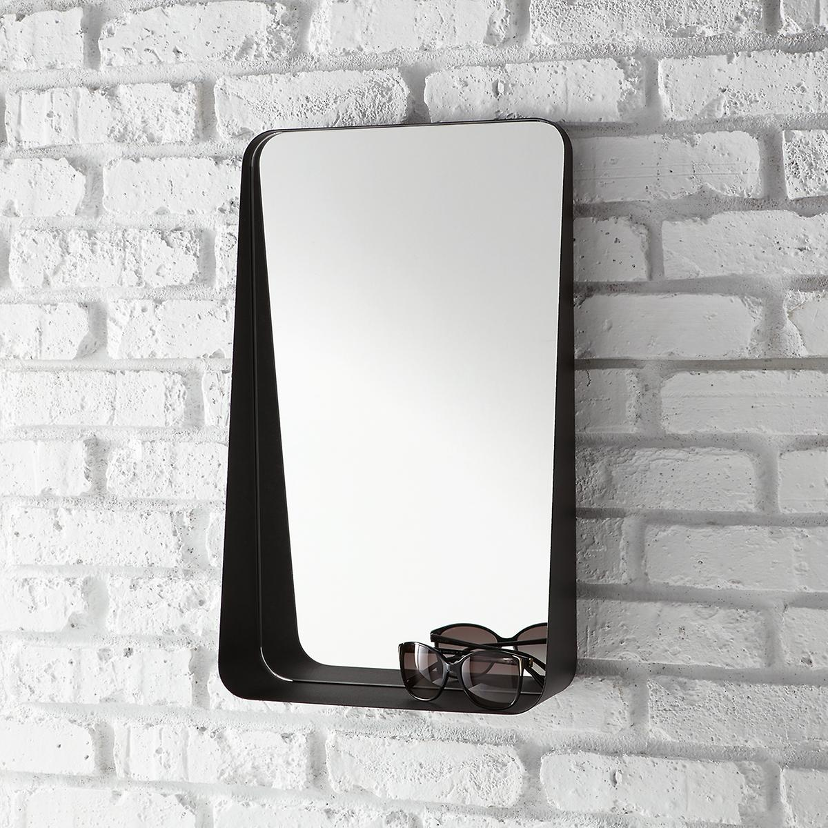 Black Vertical Arch Wall Mirror