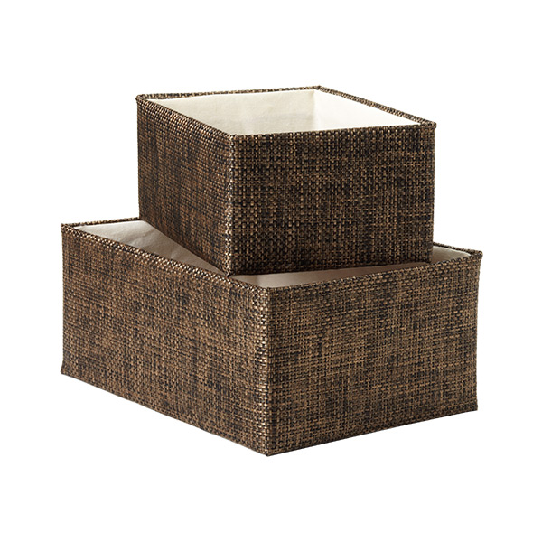 Copper Mocha Woven Kiva Storage Bins The Container Store