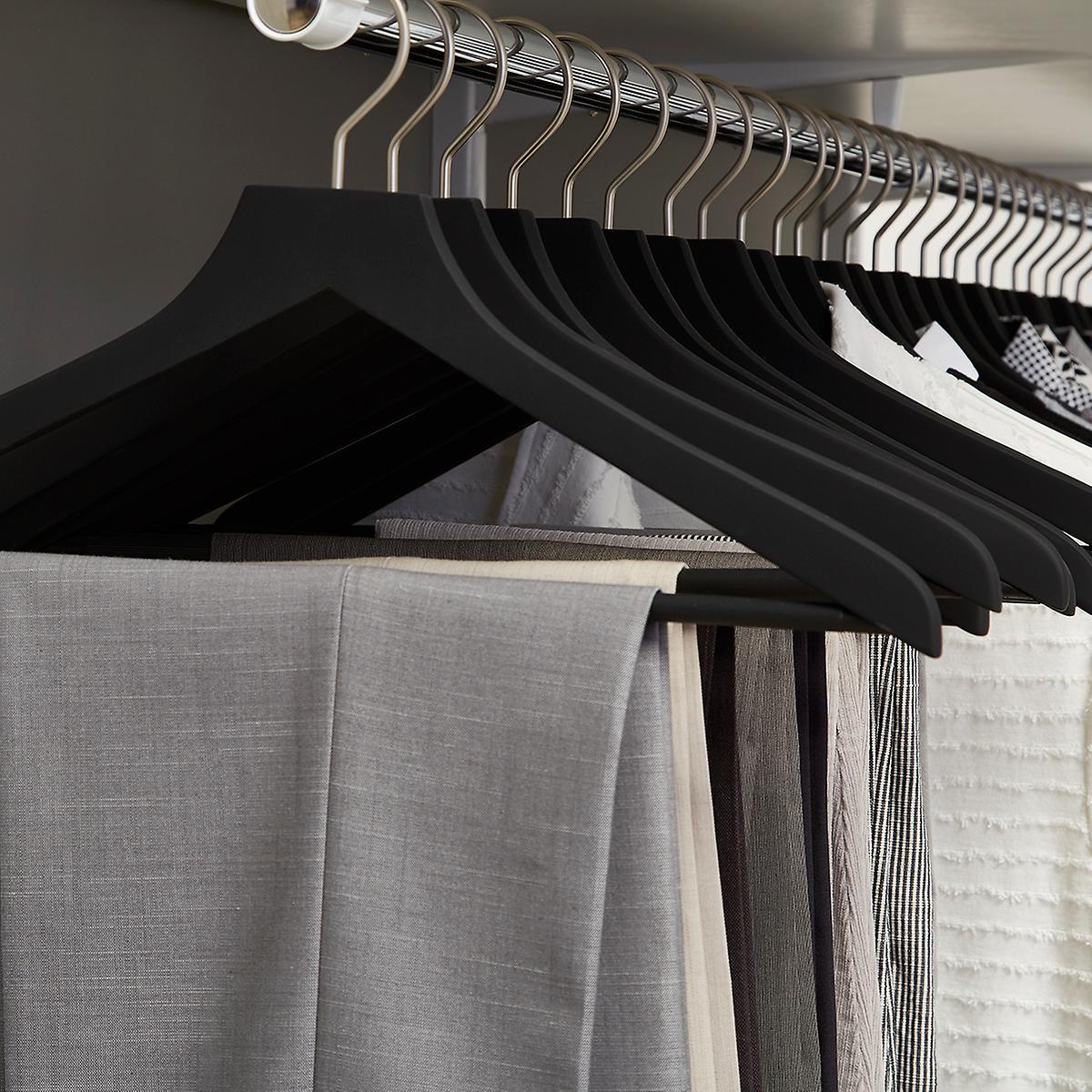 Basic Black Soft Matte Wood Hangers