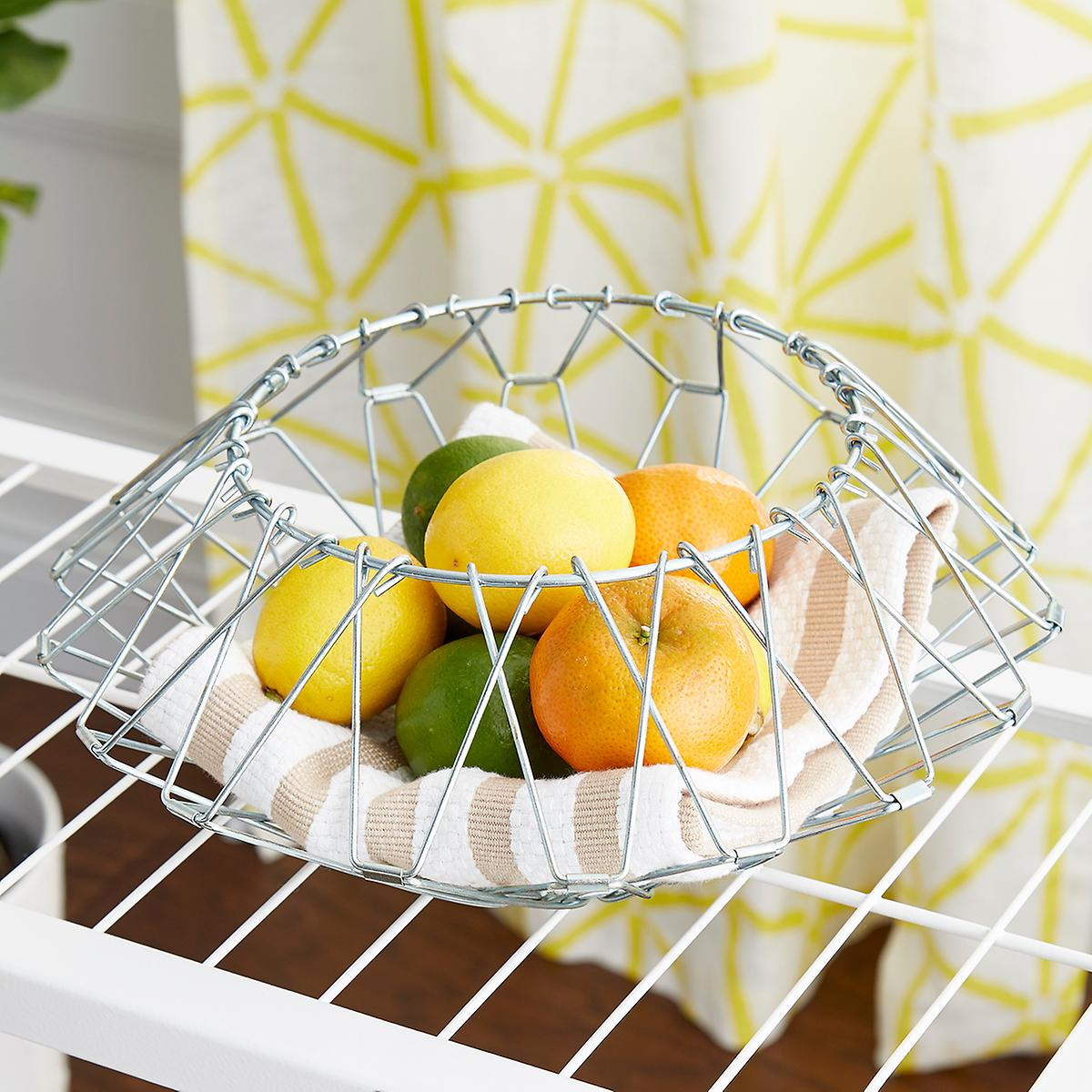 Folding Wire Storage Basket