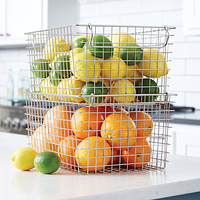 Tall Stackable Wire Basket with Handles
