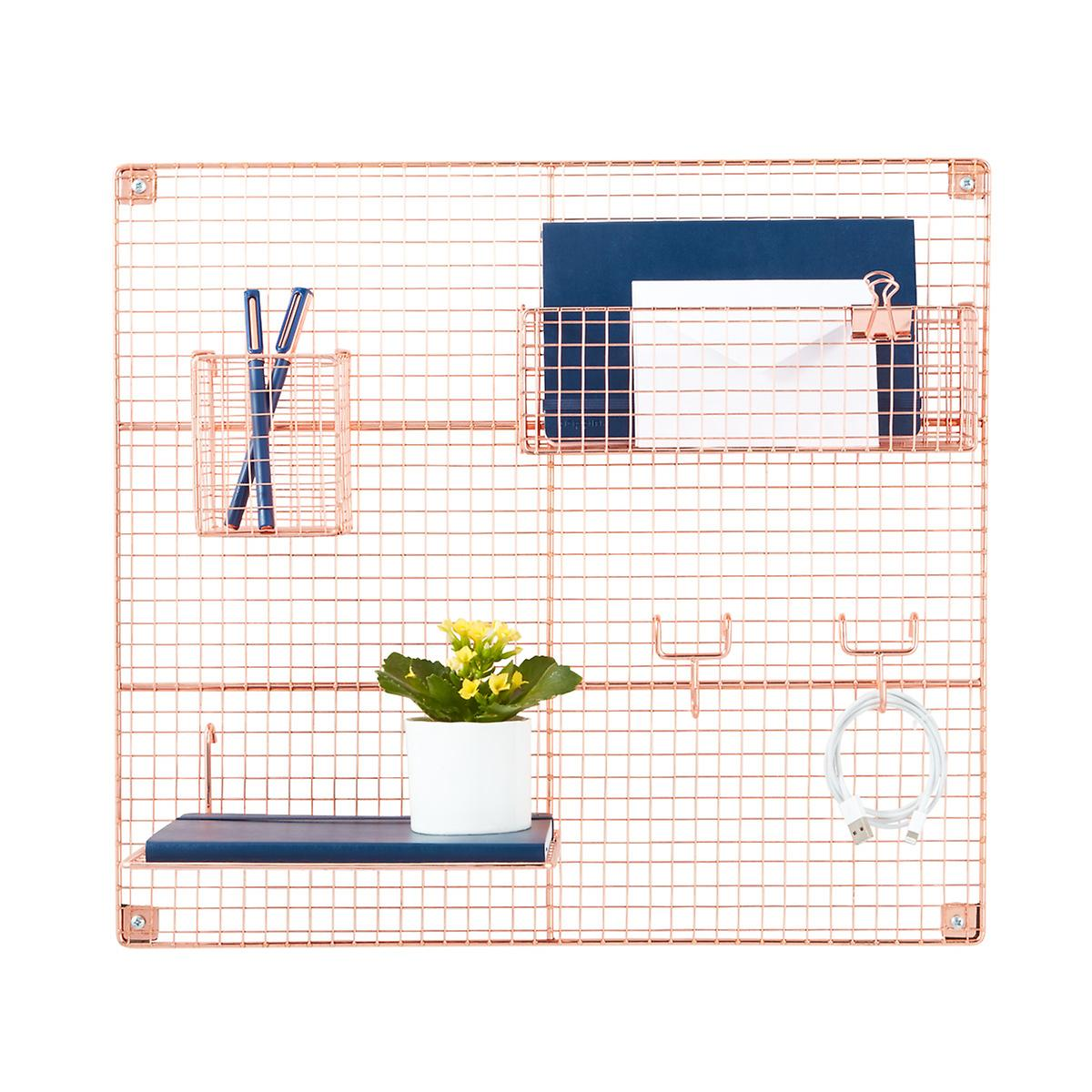 Rose Gold Wire Wall Grid & Components