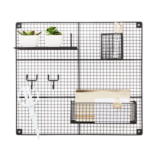 Black Wire Wall Grid Amp Components The Container Store