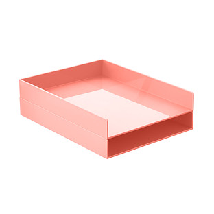 Blush Poppin Stackable Letter Tray