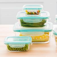 OXO Good Grips 8-Piece Smart Seal Rectangular Glass Food Storage Set Product Image