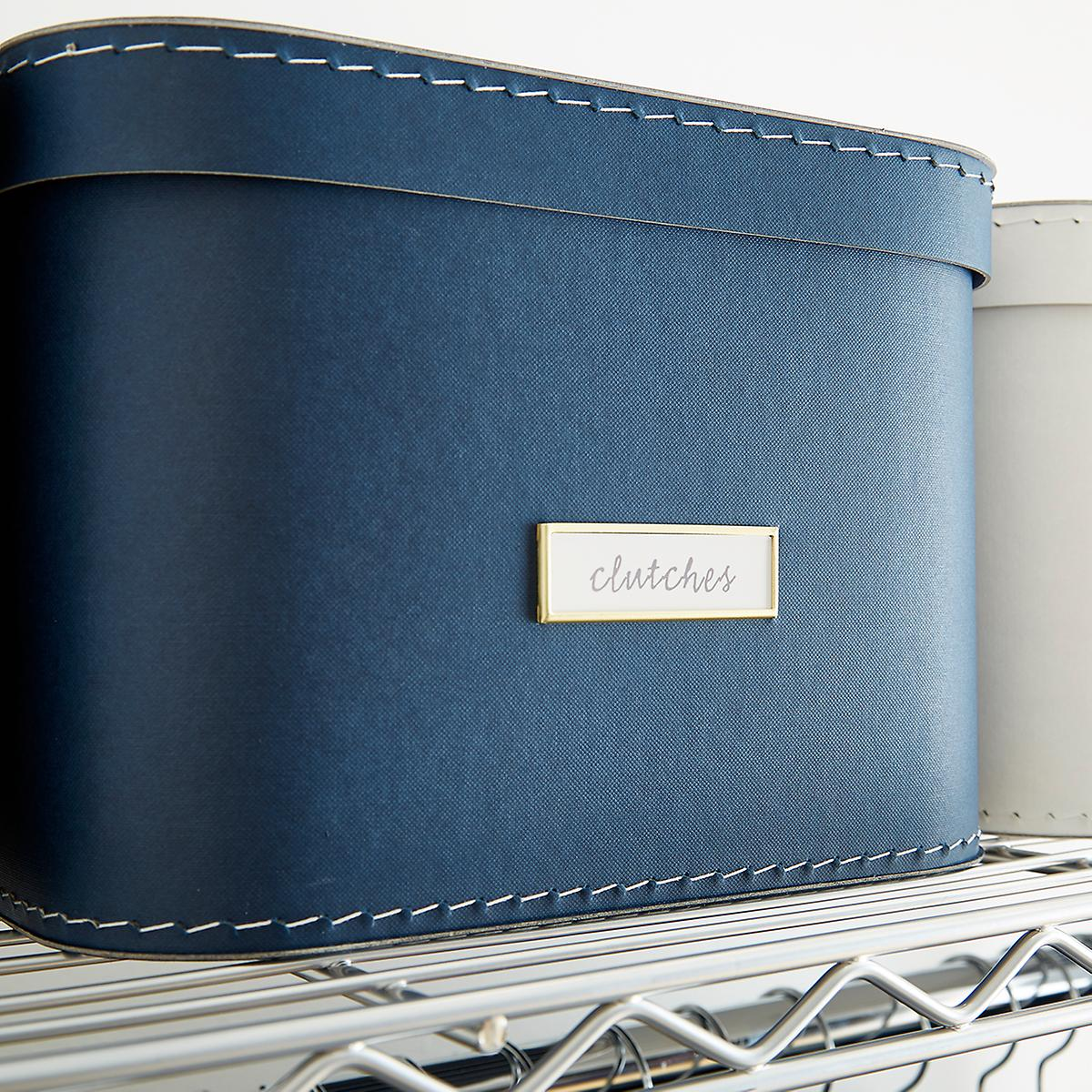 Navy Oskar Storage Box with Lid