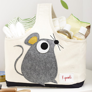 3 Sprouts Mouse Canvas Storage Caddy