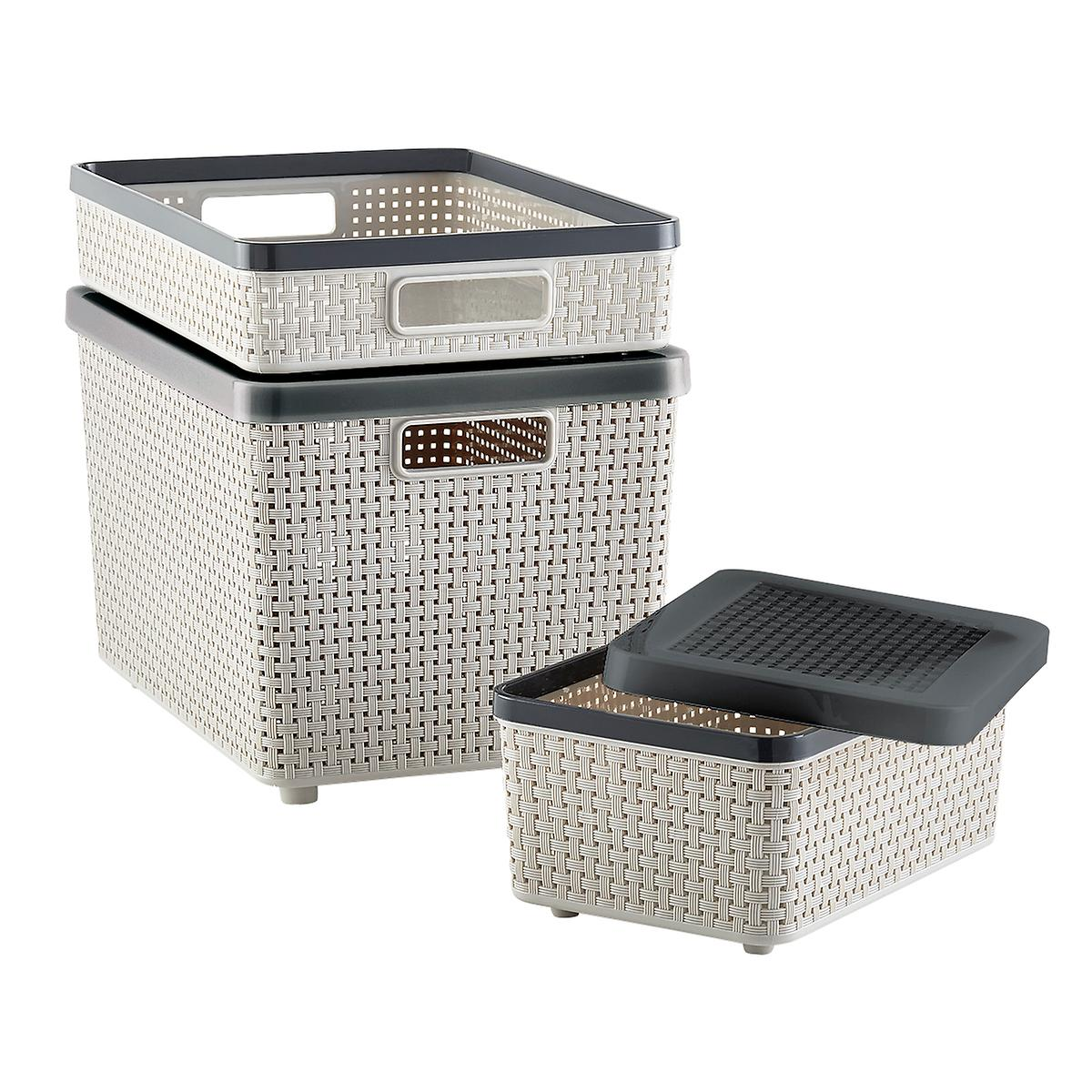 Grey Cottage Woven Storage Bins