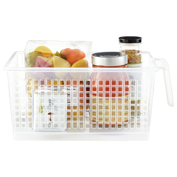 Clear Storage Baskets  sc 1 st  The Container Store & Clear Handled Storage Baskets | The Container Store