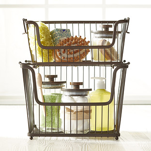 InterDesign Small Bronze York Open Wire Stackable Basket