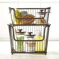 Small Bronze York Open Stackable Basket