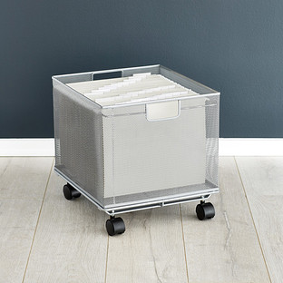 Silver Mesh Stackable File Crate Reviews | The Container Store