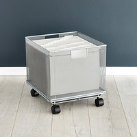Silver Stacking Mesh Crate