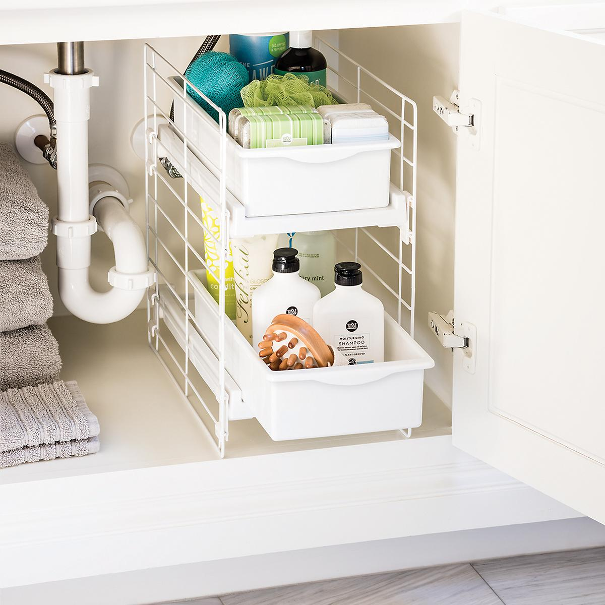 Sliding 2-Drawer Organizer