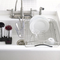 Polder Stainless Steel Dual-Purpose Dish Rack