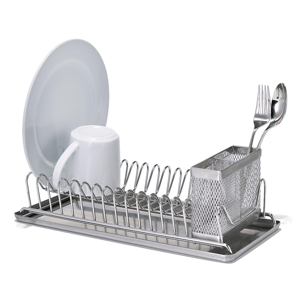 polder stainless steel compact dish rack the container store. Black Bedroom Furniture Sets. Home Design Ideas