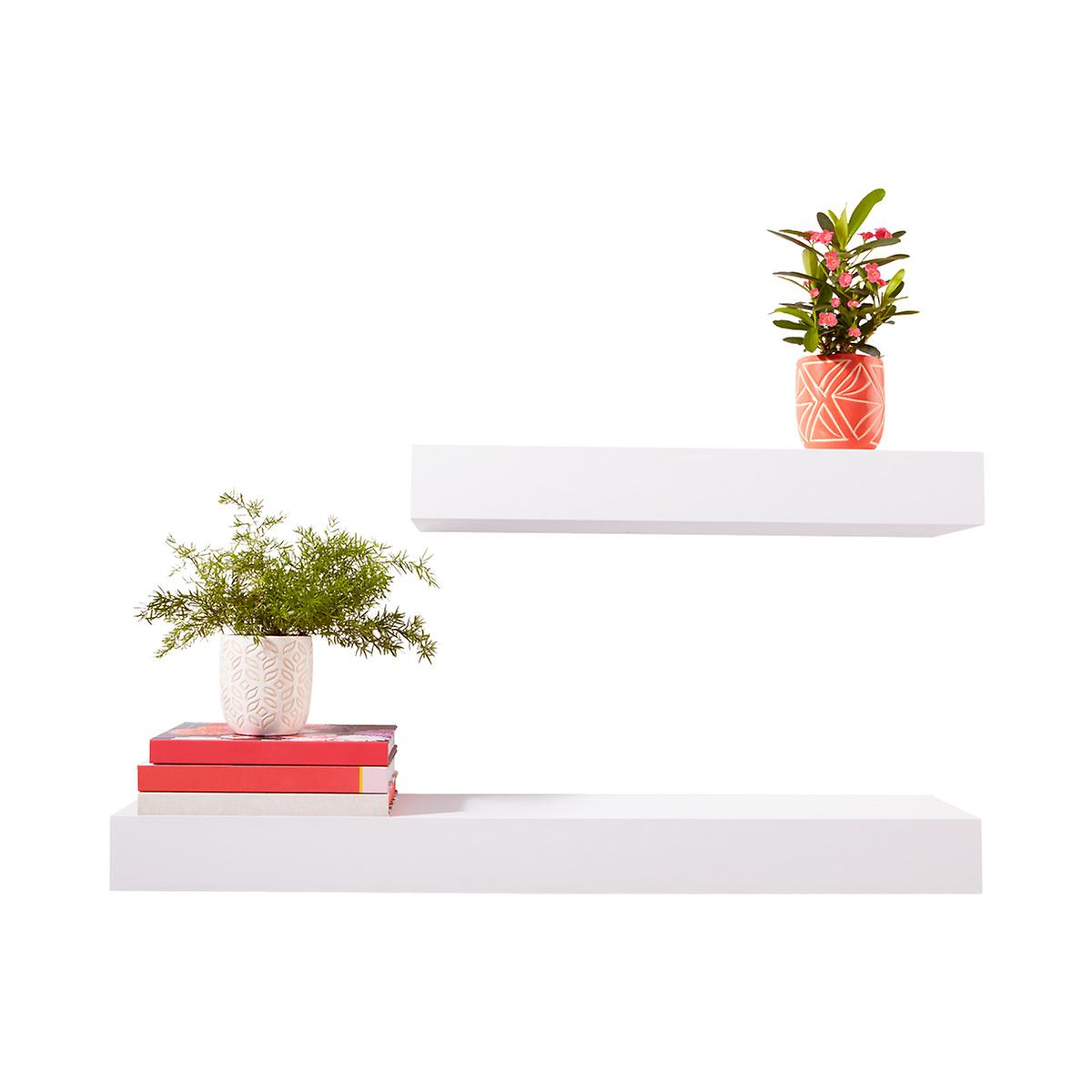 White Floating Shelves ...
