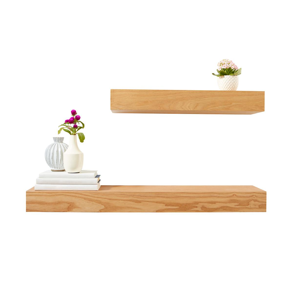 Ash Floating Shelves | The Container Store